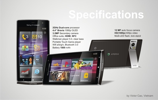 Фото дня: концепт Sony Ericsson XPERIA под управлением Windows Phone 8