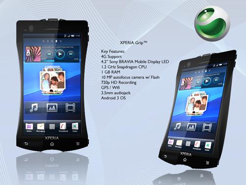 Sony Ericsson Xperia Grip - интересный концептофон в необычном корпусе