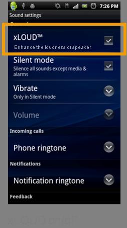 Sony Ericsson продемонстрировала возможности функции xLOUD