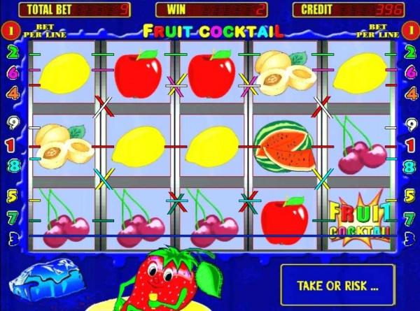 Игровой автомат Gaminator Fruit Cocktail: вспомним летние дни