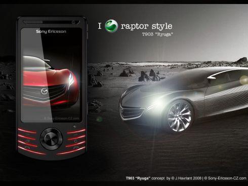 Концепт Sony Ericsson T903 по мотивам Mazda Ryuga