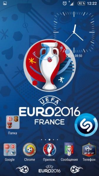 Euro 2016 – Xperia тема, иконки и обои к чемпионату Европы по футболу