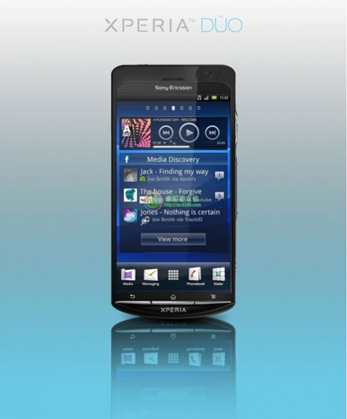 Официальное фото Sony Ericsson Xperia Duo с 1,4-ГГц процессором